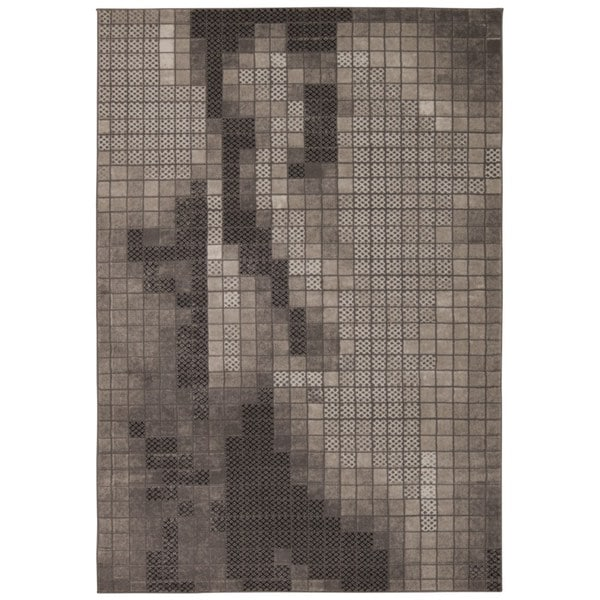 Rug Squared Calistoga Grey Rug (7'10 x 10'6)