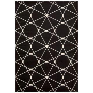 "Rug Squared Carlsbad Black Rug (5'3"" x 7'3)"