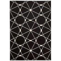 Rug Squared Carlsbad Black Rug - 7'10 x 10'6