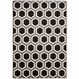 Rug Squared Carlsbad Black/ White Rug (2'2 x 7'3)