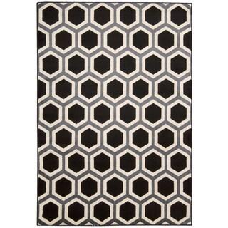 Rug Squared Carlsbad Black/ White Rug (3'11 x 5'3)