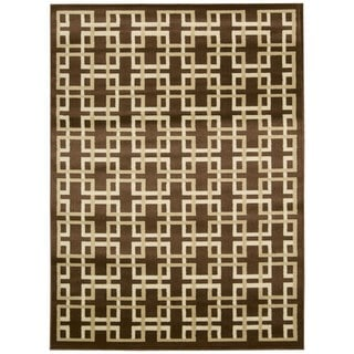 """Rug Squared Carlsbad Brown Rug (5'3"""" x 7'3)"""