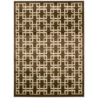 Rug Squared Carlsbad Brown Rug (7'10 x 10'6)