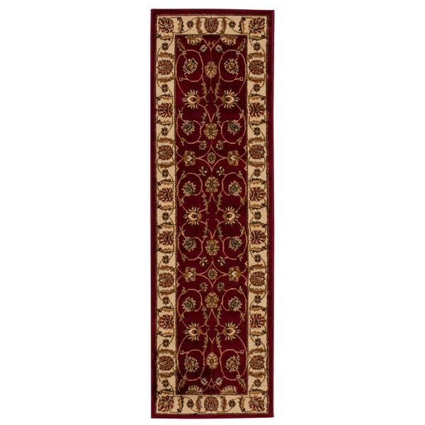 "Rug Squared Mariposa Red Rug - 2'2"" x 7'3"" Runner"