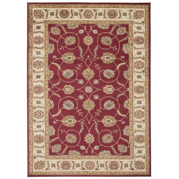 "Rug Squared Mariposa Red Rug (3'11 x 5'10) - 3'11"" x 5""10"""