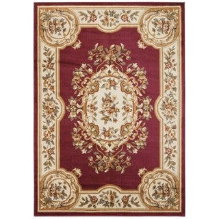 Rug Squared Mariposa Red Rug (3'11 x 5'10)