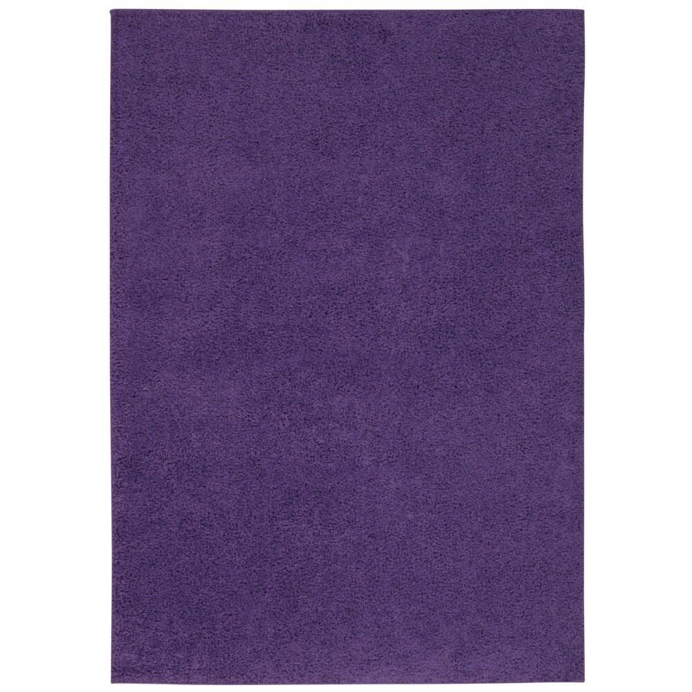 Rug Squared Woodstock Light Violet Shag Rug (8'2 x 10') (...