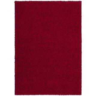 Rug Squared Woodstock Red Shag Rug (8'2 x 10')