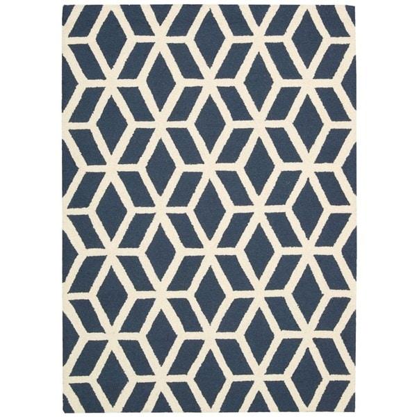 Rug Squared Laredo Blue/ Ivory Rug (7'6 x 9'6)