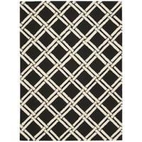 Rug Squared Laredo Black/ White Rug (8' x 11') - 8' x 11'