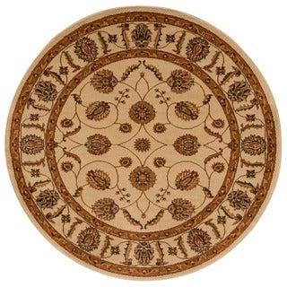Rug Squared Mariposa Beige Round Rug (5'3 x 5'3)