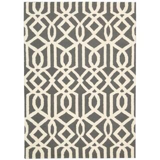 Rug Squared Laredo Grey/ Ivory Rug (5' x 7')