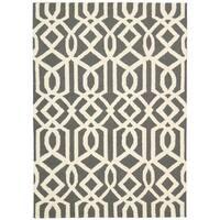 Rug Squared Laredo Grey/ Ivory Rug - 7'6 x 9'6
