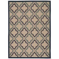 Rug Squared Kona Indoor/Outdoor Navy Rug - 9'6 x 13'