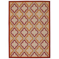 Rug Squared Kona Indoor/Outdoor Red Rug - 9'6 x 13'