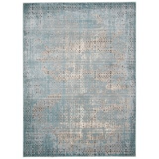 Rug Squared Lakewood Blue Rug (5'3 x 7'4)