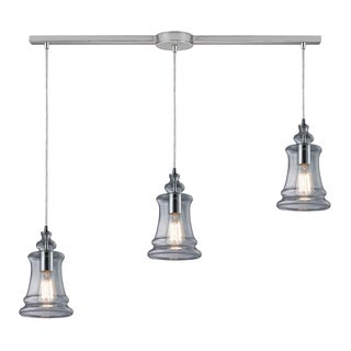 Elk Lighting Menlow Park 3-light Polished Chrome Pendant with Clear Glass Shades