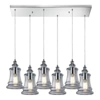Elk LIghting Menlow Park 6-light Polished Chrome Pendant with Clear Glass Shades