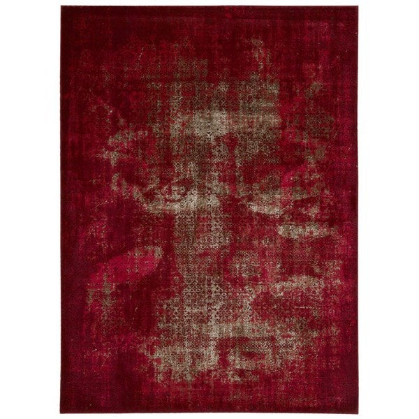 Shop Rug Squared Lakewood Red Rug 3 9 Quot X 5 9 Quot On Sale