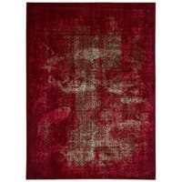 Rug Squared Lakewood Red Rug - 7'10 x 10'6