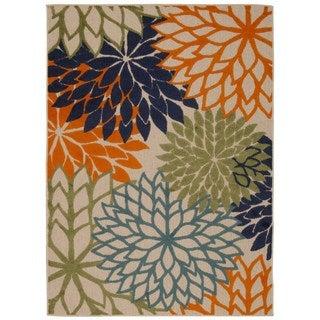 Rug Squared Kona Indoor/Outdoor Multicolor Rug (5'3 x 7'5)