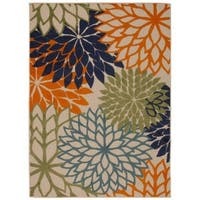 Rug Squared Kona Indoor/Outdoor Multicolor Rug - 5'3 x 7'5