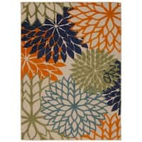 Rug Squared Kona Indoor/Outdoor Multicolor Rug - 7'10 x 10'6