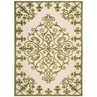 Rug Squared Kona Indoor/Outdoor Green Rug (5'3 x 7'5) - 5'3 x 7'5