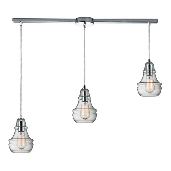 Elk Lighting Menlow Park Polished Chrome Industrial-style 3-light Pendant