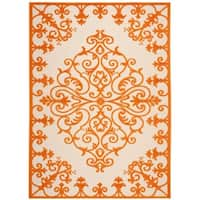 Rug Squared Kona Indoor/Outdoor Orange Rug - 5'3 x 7'5