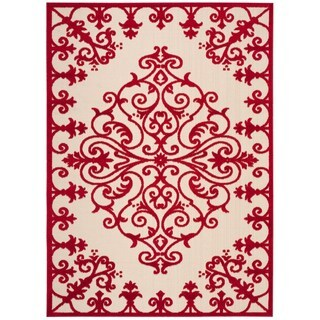 Rug Squared Kona Indoor/Outdoor Red Rug (7'10 x 10'6)