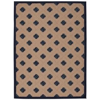 Rug Squared Kona Indoor/Outdoor Navy Rug (3'6 x 5'6)