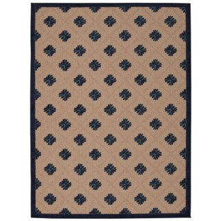 Rug Squared Kona Indoor/Outdoor Navy Rug (5'3 x 7'5)