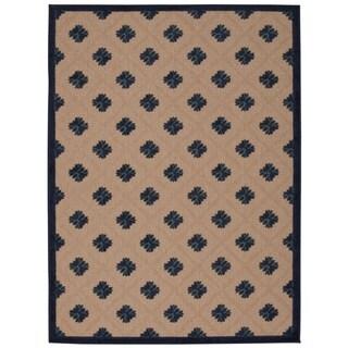 Rug Squared Kona Indoor/Outdoor Navy Rug (9'6 x 13')