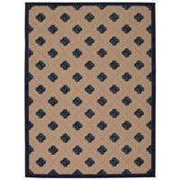 Rug Squared Kona Indoor/Outdoor Navy Rug