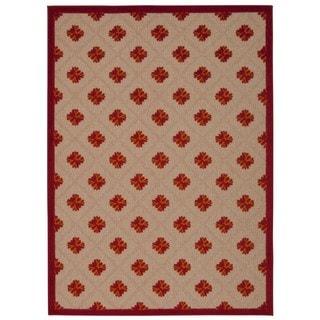 Rug Squared Kona Indoor/Outdoor Red Rug (3'6 x 5'6)
