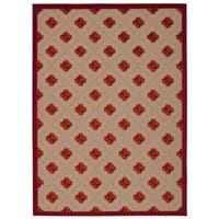 Rug Squared Kona Indoor/Outdoor Red Rug (5'3 x 7'5)