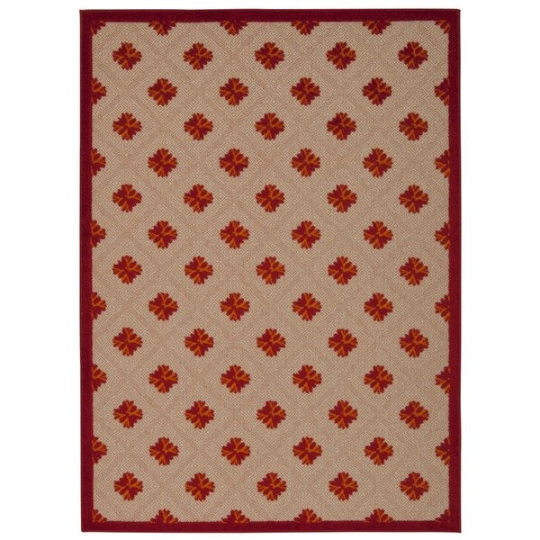 Rug Squared Kona Indoor/Outdoor Red Rug (7'10 x 10'6)