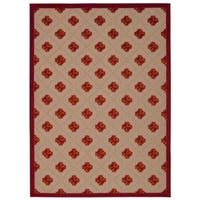 Rug Squared Kona Indoor/Outdoor Red Rug (9'6 x 13') - 9'6 x 13'