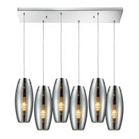Elk Lighting Menlow Park Polished Chrome Transitional 6-light Line Pendant