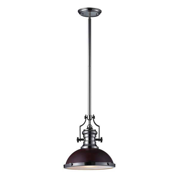 Elk Lighting Chadwick Pendant: Shop Elk Lighting Chadwick Dark Walnut And Polished Nickel