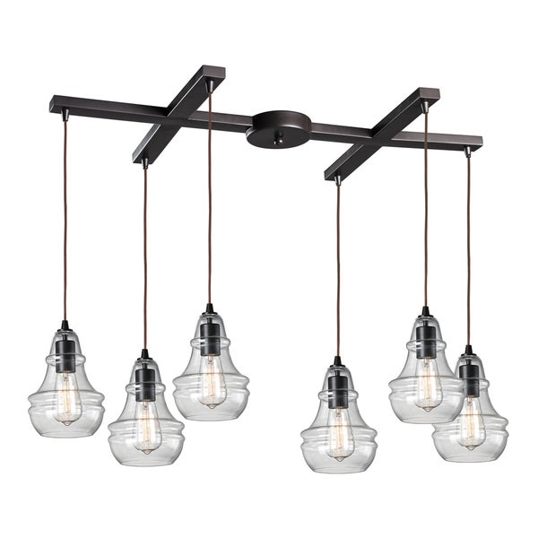 Elk Lighting Marlow Park Oiled Bronze 6-light Cluster Pendant