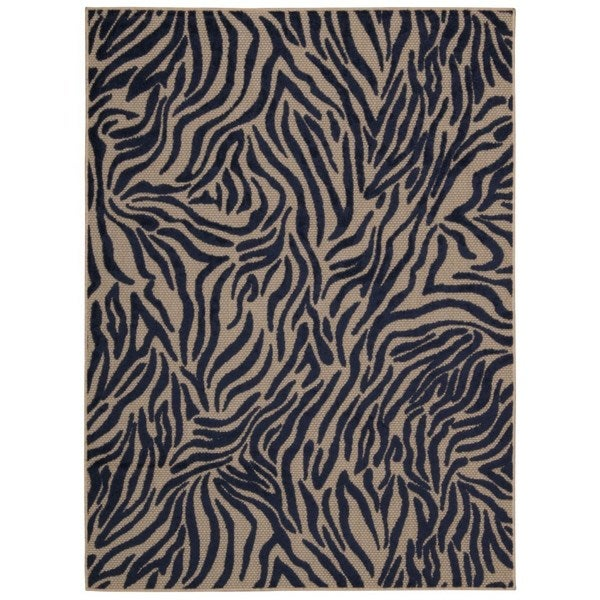 Rug Squared Kona Indoor/Outdoor Navy Rug - 7'10 x 10'6