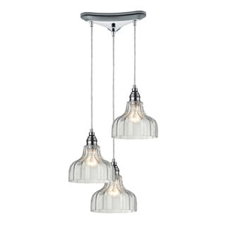 Danica 3-light Clear Glass and Polished Chrome Pendant