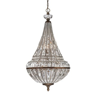 Elk Lighting Empire 9-light Pendant in Mocha