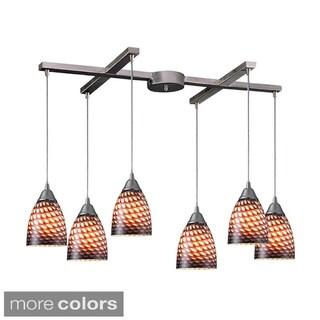 Elk Lighting Arco Baleno 6-light Colored Glass and Nickel Pendant