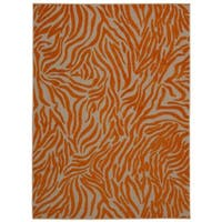 Rug Squared Kona Indoor/Outdoor Orange Rug (7'10 x 10'6) - 7'10 X 10'6