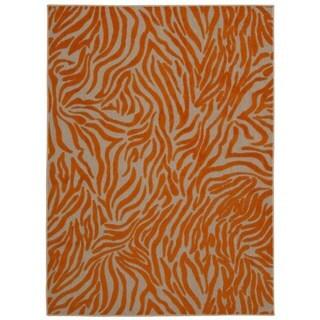 Rug Squared Kona Indoor/Outdoor Orange Rug (9'6 x 13')