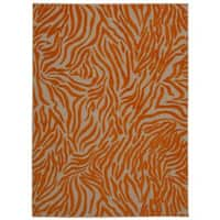 Rug Squared Kona Indoor/Outdoor Orange Rug - 9'6 x 13'