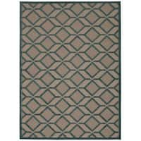 Rug Squared Kona Indoor/Outdoor Blue Rug (7'10 x 10'6) - 7'10 X 10'6